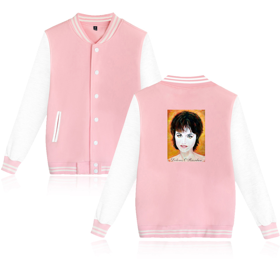 The Cranberries Dolores ORiordan R.I.P. Baseball Jacket Men/Women Uniform Coat Jacket Long Streetwear College Coat