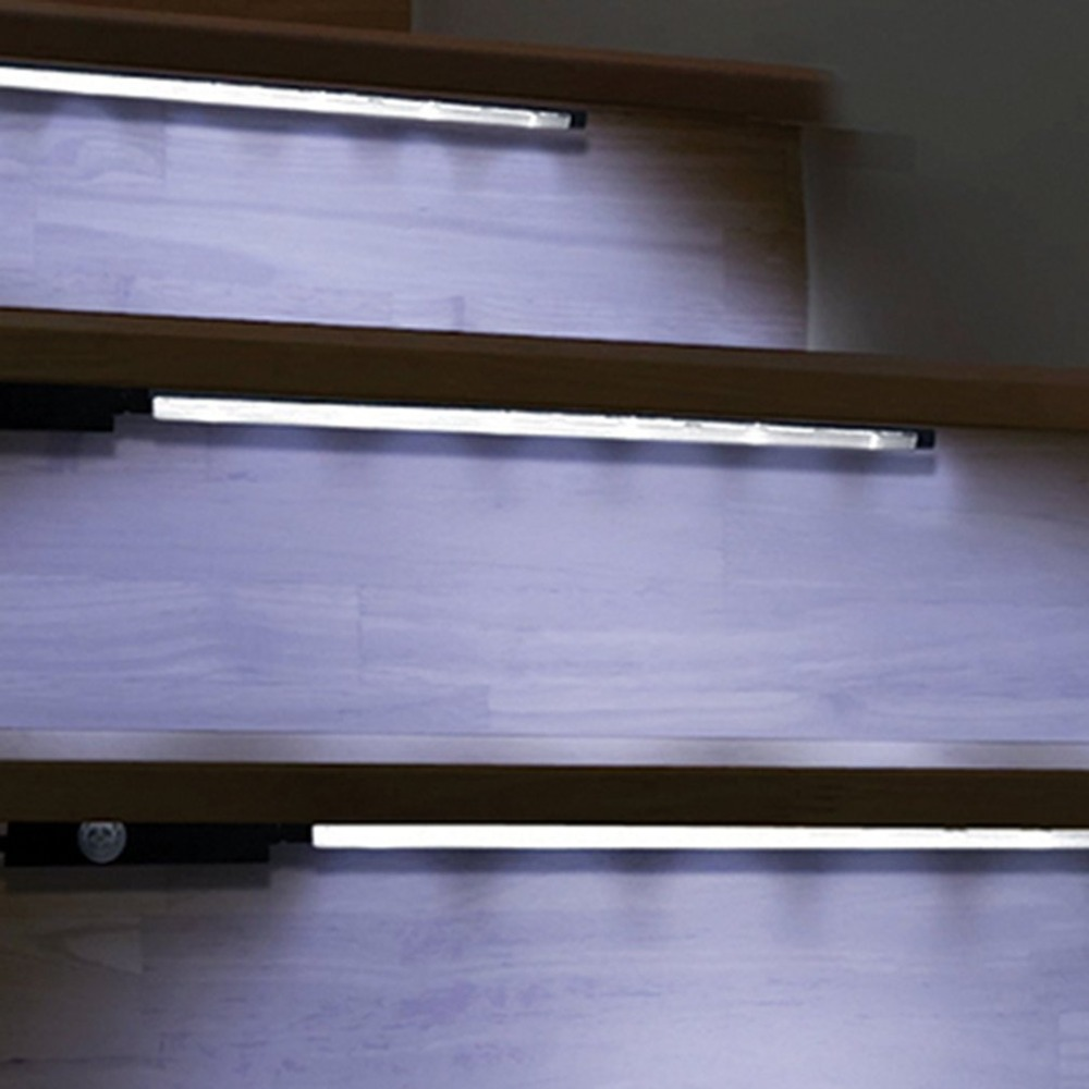 Us 11 05 21 Off Motion Sensor Activated Accent Lighting Led Strips Battery Operated Light Bars For Cabinets Stairs Doorways In Self Defense Supplies