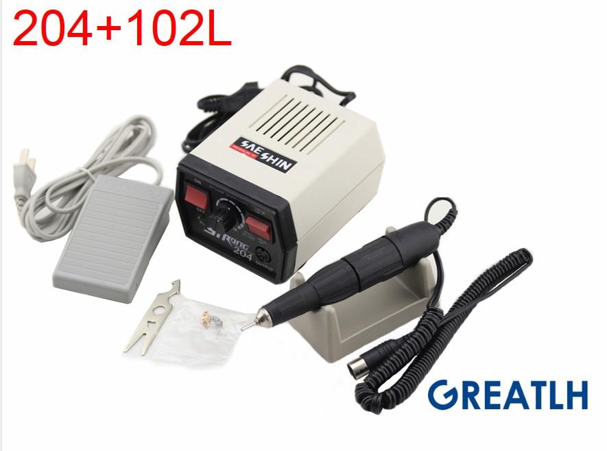 New 220v Strong 204 102L HANDPIECE Electric Dental Micromotor Dental Lab Marathon polishing jewelry tools