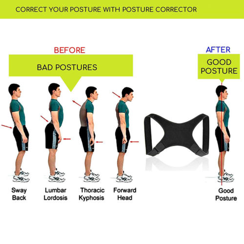 Posture Corrector Back Support Belt Shoulder Bandage Corset Back Orthopedic Spine Posture Corrector Back Pain Relief 13