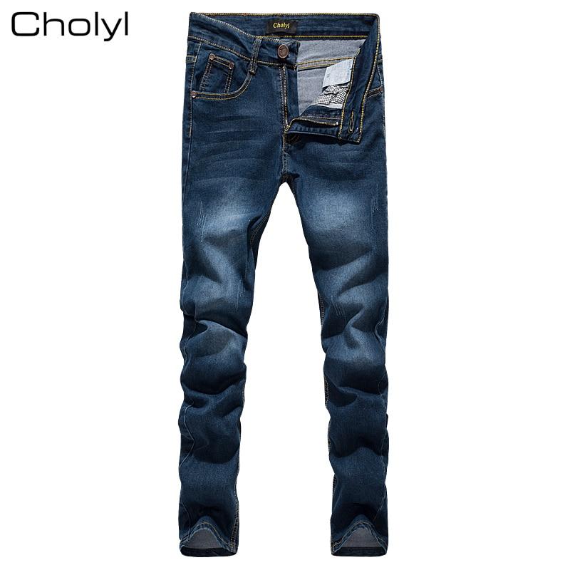 Hot Sale Men Jeans Pencil Pants Stretch Jeans Men Brand Casual Slim Fit Pants Skinny Boys Male Denim Biker Man Blue