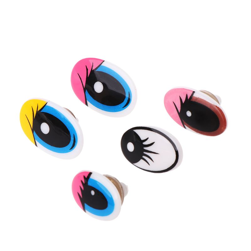10pcs Plastic Cartoon Safety Doll Eyes For Toy Bear Dolls Puppet Stuffed Animal Crafts Children DIY With Washers