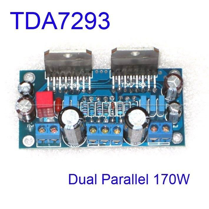 Assembled TDA7293 Dual Parallel 170W BTL Mono Audio Power Amplifier AMP Board