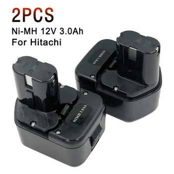 2X 12V 3.0Ah Ni-Mh Rechargeable Tools Battery for Hitachi EB1220HL EB1226HL EB1230HL EB1230X 322629 323226 324279 324360