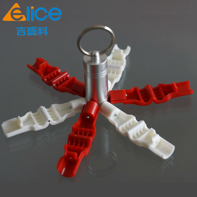 2016 Hot Selling 500pcs Retail Loss Prevention Red 6 Mm Display Security EAS Stoplock/ EAS Hook Stop Lock +5 Pcs Detachers