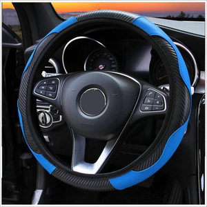 Image 1 - 100% Wear resistant Leather Universal Car Steering wheel Cover 36CM 39CM Car styling Sport Auto Steering Wheel Covers Anti Slip