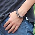 Top Quality Leather Bracelet Cool Men New Design Dragon Head Bracelet Punk Men Fashion Jewelry Male Bangle Bijoux Accessories