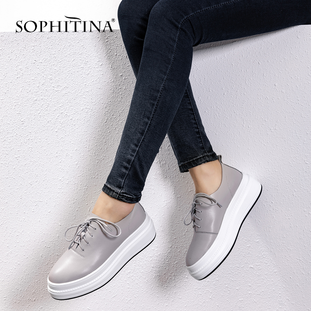 Купить женские туфли на плоской подошве sophitina натуральная кожа