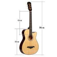 38 дюймов баллада популярно мужчин и женщин начинающих Практика гитары студент