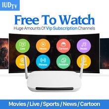 Dalletektv Europa Sueco Francés 2000 Canales de IPTV Árabe IPTV Caja Android Q9 IUDTV IPTV Smart TV Caja 1 Año de Suscripción