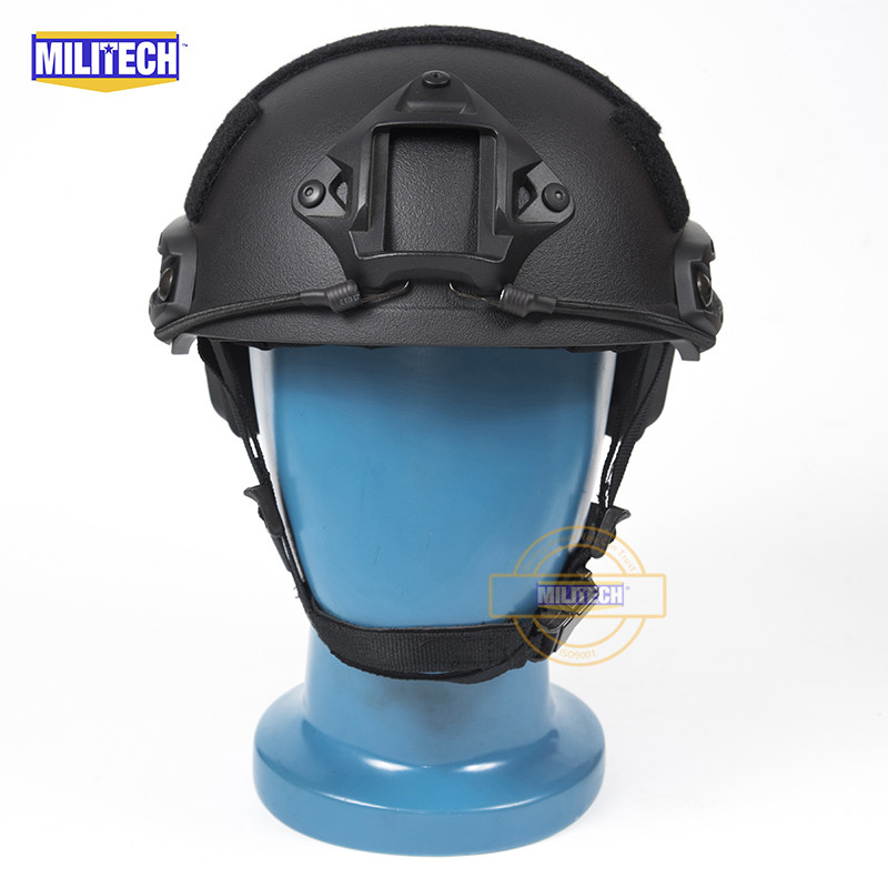 MILITECH FAST Black FA Style Super ABS Airsoft Tactical Helmet Ops Core Style High Cut Training