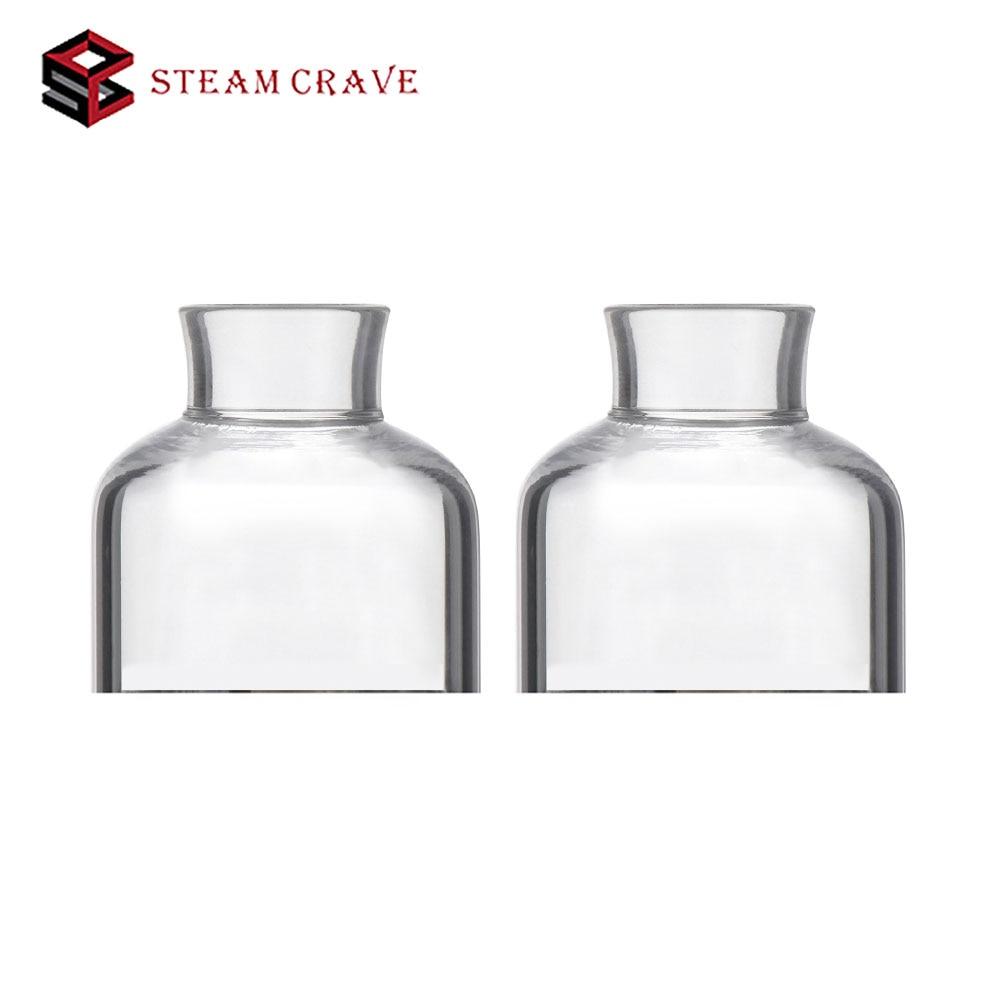 Steady 100% Original Steam Crave Glaz Rdsa Pyrex Glass Top Cap 2pcs/pack Spare Part For Steam Crave Glaz Rdsa Electontric Cigarette Elegant And Graceful Consumer Electronics