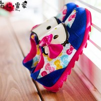 Hello Kitty Children Shoes 2015 Autumn New Fashion Girls Boys Casual Sneakers Child Fashion Flats Sneakers