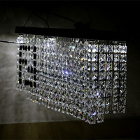 Modern Minimalist Pendant Lights Restaurant Lights Crystal Lamps Luxury Dining Rectangular Living Room Lights
