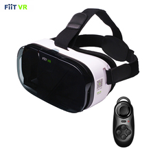 "Fiit 2n VR Realidad Virtual Smartphone Gafas 3D gafas de Auriculares Google Cartón Monte Cabeza Casco de 4.0 '-6.0 ""teléfono + Remote"