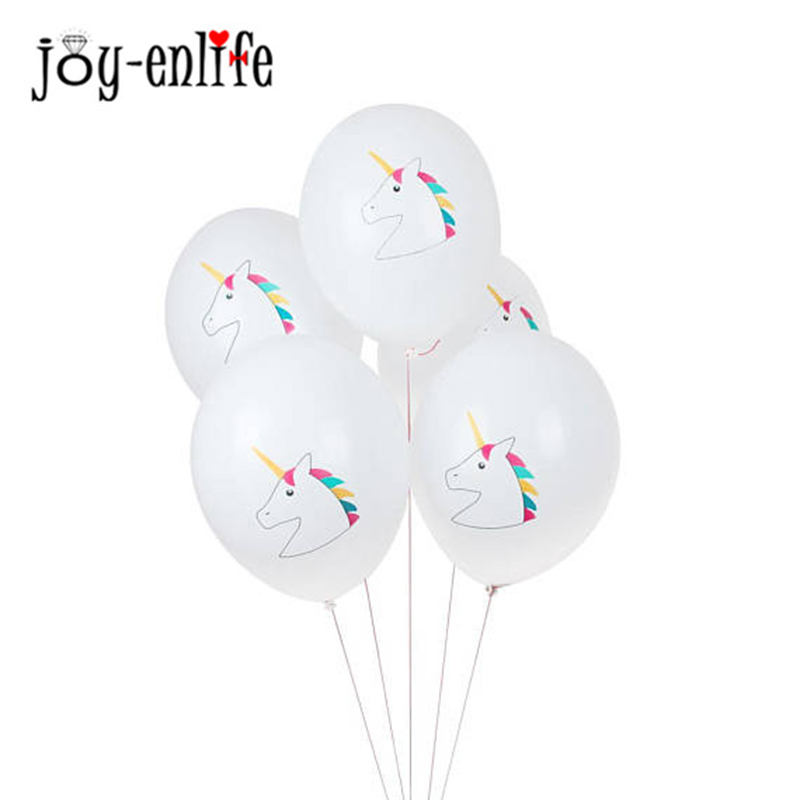 10pc Unicornio Latex Balloons Unicorn Party Rainbow Ballons One First 1st Birthday Decoration Eenhoorn Party Supplies