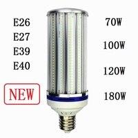 Lâmpadas de Milho E27 E26 E39 E40 iluminação pública 70 W 100 W 120 W 180 W Lâmpadas LED industrial de alta baía Refletor de Luz Fria Branco Quente 2 pcs