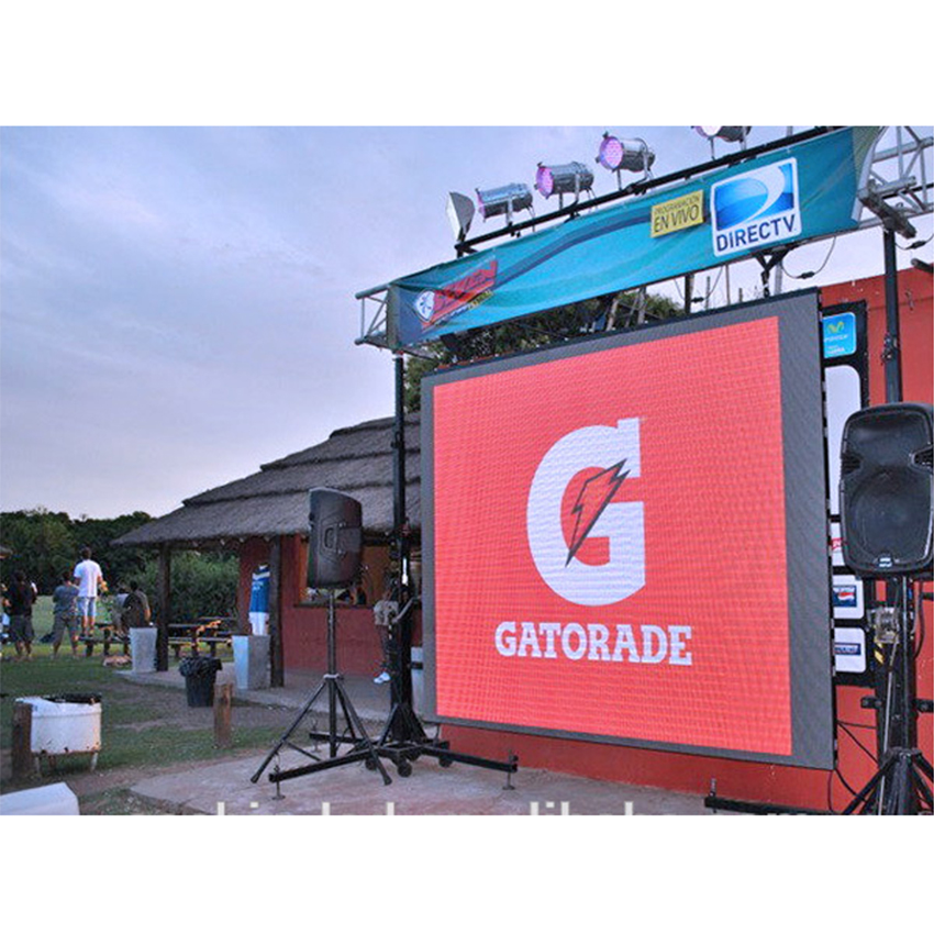 P6mm Pixels Outdoor 576x576mm Die Casting Aluminum Panel Led Display Function Video Wall Screen For Rental Stage Show