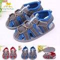 O último verão de comércio exterior sapatos de bebê fundo macio shoes velcro sandálias finas baratos do bebê aprender a andar em primeiro lugar time lx7
