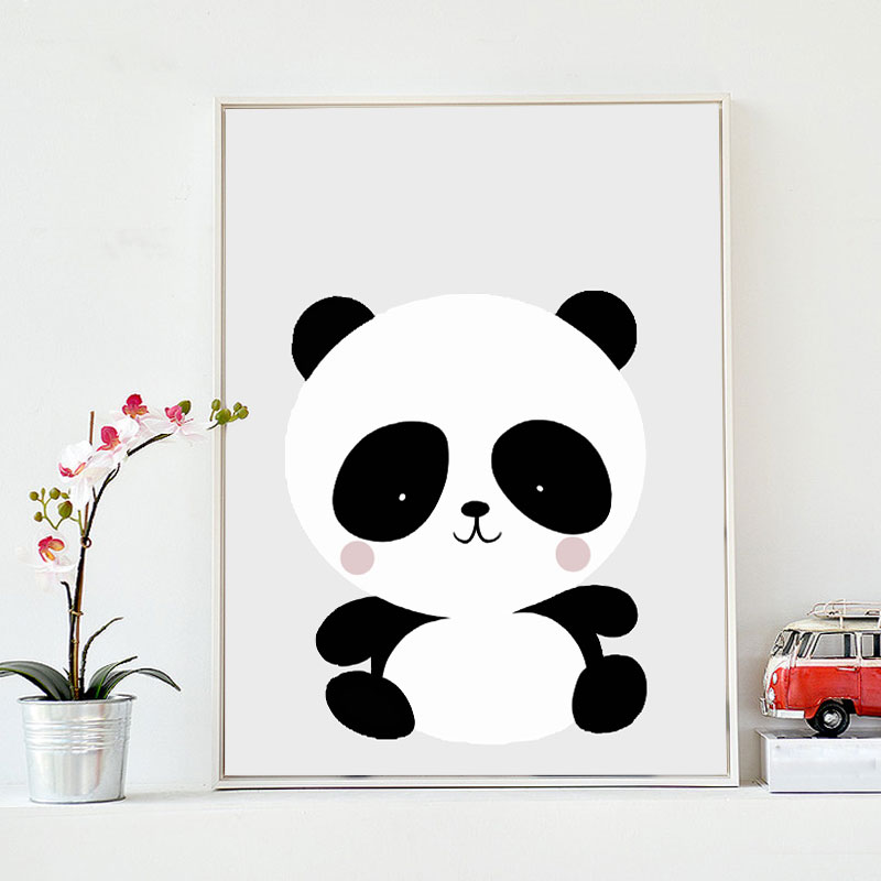 Cute Little Panda Simple Decoration Drawing Creative Home Toddler Bedroom In Painting Calligraphy From Garden On Aliexpress
