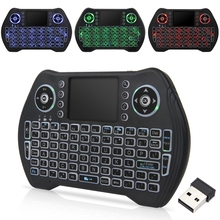 Wireless Mini Tastatur Maus Tri-Farbe Hintergrundbeleuchtung I8 Verbesserte MT10 & 3-Farbe Hintergrundbeleuchtung Smart Touchpad Mit USB adapter