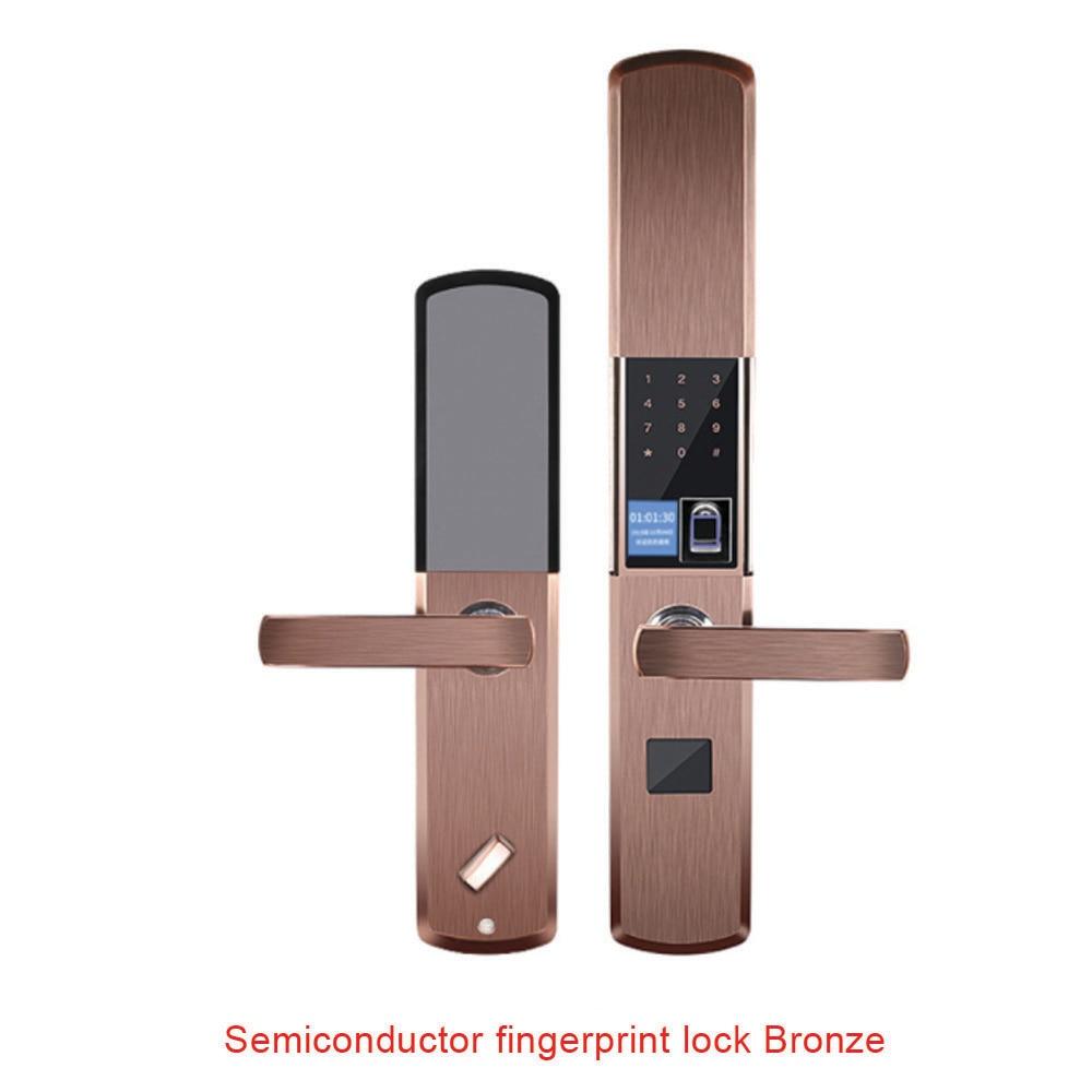 Semiconductor fingerprint elektronische intelligente sperre indoor schlüssel APP anti diebstahl tür voll automatische + uid rfid ring + ein kopierer - 5