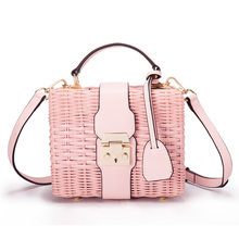 2019 INS new handbag rattan bag fashion courier hand-made high-end sloping trend personality