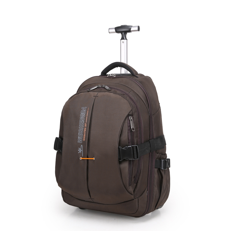 Men Nylon Trolley Luggage Travel Bags Business Luggage Suitcase on Wheels Travel Trolley Rolling Bags Women