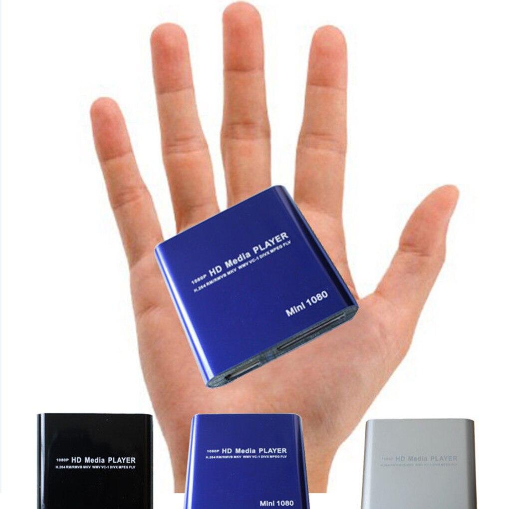 Offre Spéciale 1080 P Mini HD Media Player AV USB SD MMC Multimédia Publicité MKV Voiture Externe lecteur vidéo UK plug