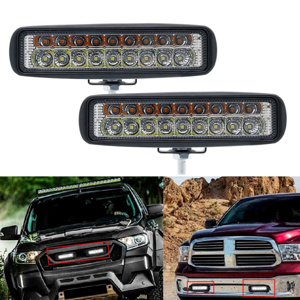 54w 6 inch Offroad LED Bar Headlight Light Bar Fog light Flood Beam for 4x4 UAZ ATV Truck SUV 12V 24V LED Work Light