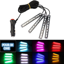 Car Interior Floor Foot Decoration LED Atmosphere Light Lamp For ford focus 2 3 1 mondeo mk4 transit fiesta fusion Mustang kuga