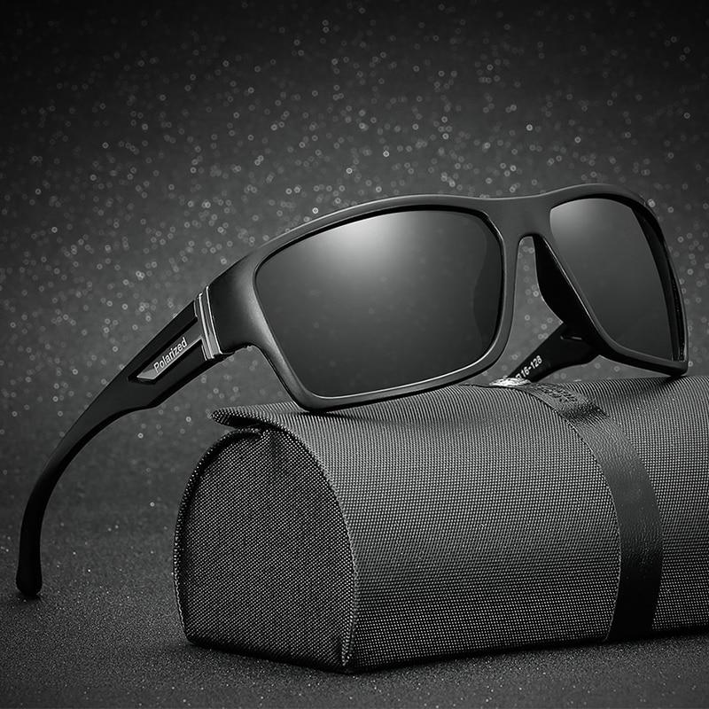 Брендовые Классические поляризованные солнцезащитные очки LongKeeper, Мужские квадратные черные очки в оправе для вождения, мужские солнцезащитные очки Gafas 1821