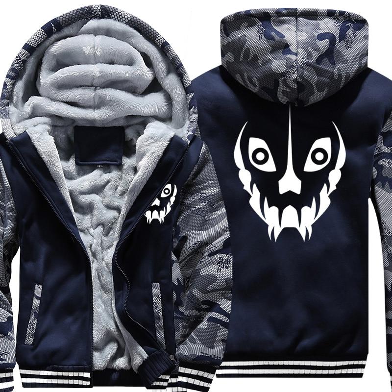 Taille américaine Hommes Manteau De Camouflage pour le Jeu Undertale Sans Papyrus Bataille Fatigues Veste sweatshirt à capuche épais Hip Hop Sweat-Shirts
