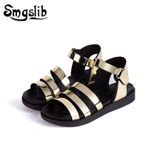 Girls Sandals kids Gladiator Princess Pu Leather Shoes 2019 Summer Fashion Kids Little Wedding Children