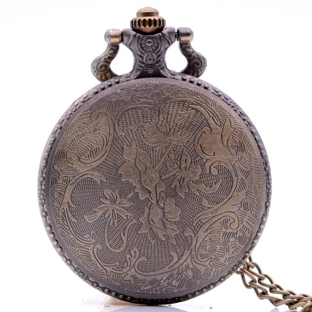 Vintage Antique House Lannister Hear Me Roar Game of Thrones Mens Quartz Pocket Watch Necklace Black Bronze Regarder Gift