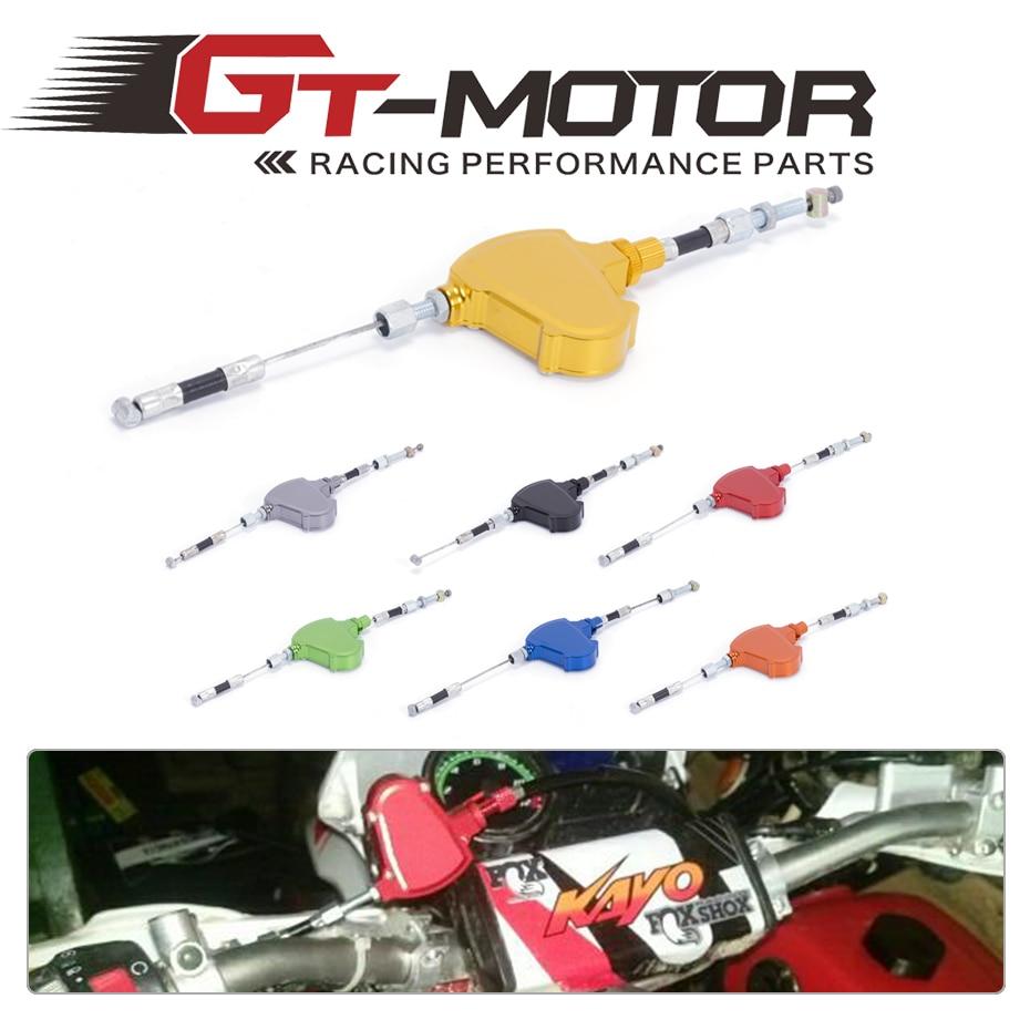 GT Motor - FREE SHIPPING For Kawasaki KDX200 KLX250 KLX300 KLX400 KX250F KX450F CNC Stunt Clutch Easy Pull Cable System free shipping front carbon kevlar brake pads motor kx125 500 kdx 200 250 klx 250
