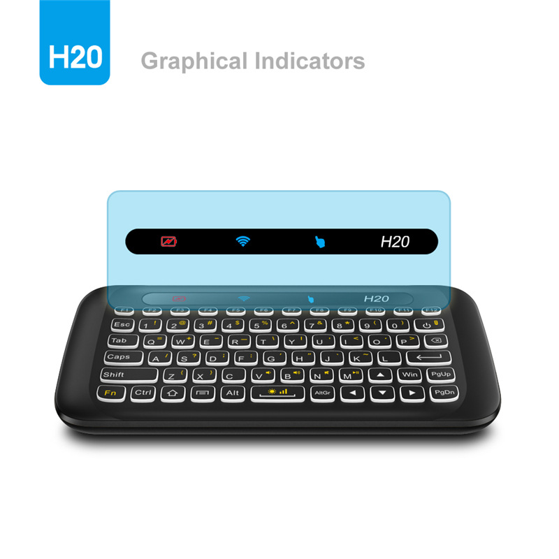 2.4 GHz Mini Teclado Sem Fio com Touchpad Combo Mouse Backlit Remoto Multi Toque