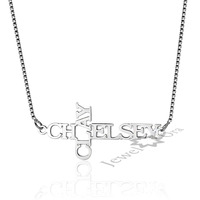 Personalized DIY 2 Names Necklace 925 Sterling Silver Women Necklaces & Pendants Best Friend Birthday Gift For Women