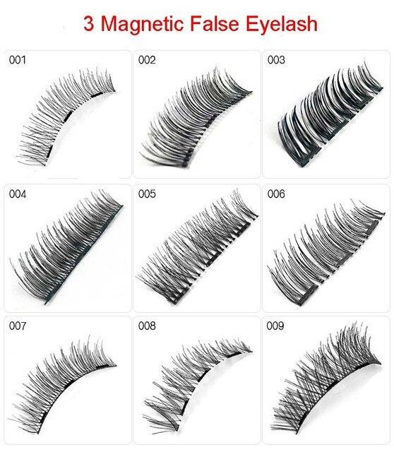 8b7155a0b86 ROMANTIC BEAR Magnetic Eyelash 3 magnetics Handmade 3D Fake Lashes Full  Strop Lashes 30sets/lot