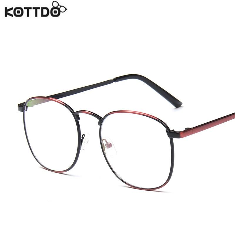 cc4740c461b KOTTDO 2017 Metal Round Eyeglasses Frames Women Men Designer Optical  Reading Glasses Frame Clear Lens Eye Glasses ...