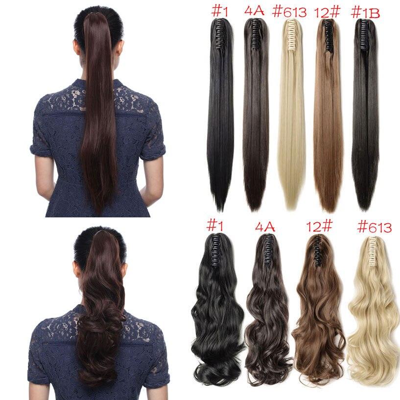 SNOILITE Syntetiska Kvinnor Kläm på Ponytail Clip i - Syntetiskt hår - Foto 4