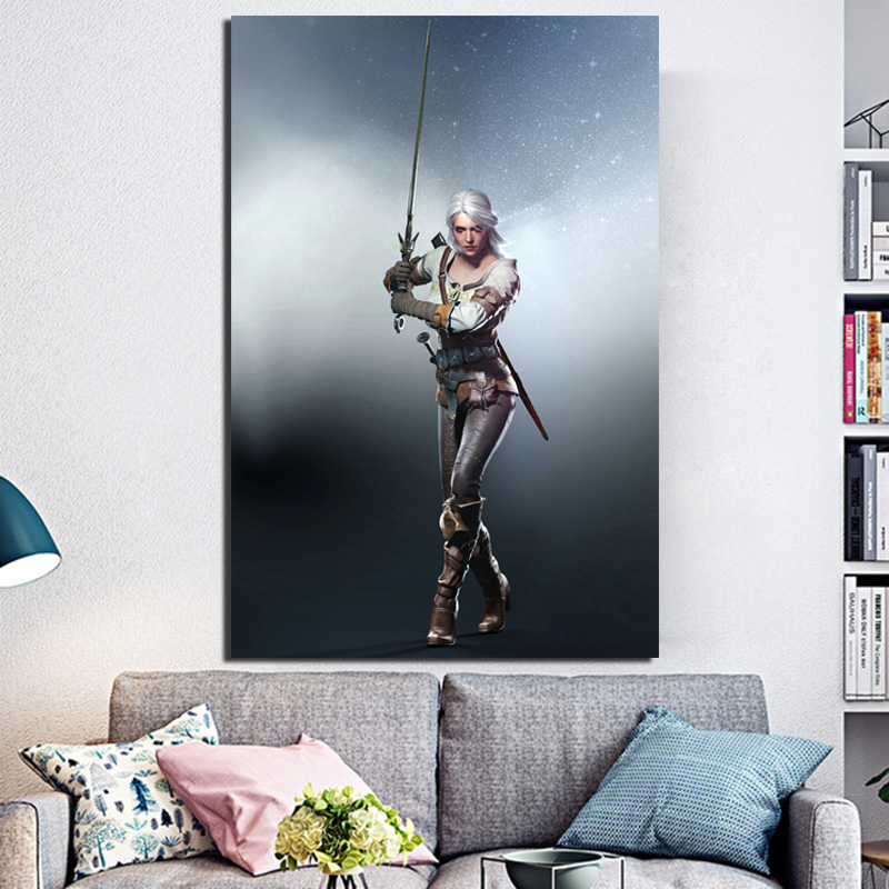 Witcher 3 Ciri Outfit HD Wall Art Canvas Painting Posters Prints Modern Painting Wall Picture For Living Room Home Decor Artwork in Painting Calligraphy from Home Garden