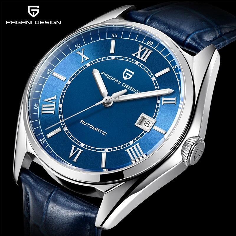 Часы Для мужчин PAGANI Дизайн Топ Элитный бренд автоматические механические Для мужчин кожаным ремешком Бизнес модные спортивные часы Relogio ...