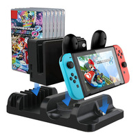Multifunctional Charging Dock Station for Nintendo Nintend Switch Console&Pro Controller Charger Joy Con Stand Game Card Storage