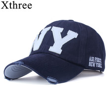 [Xthree] unisex fashion cotton baseball cap snapback hat for men women sun hat bone gorras ny embroidery spring cap wholesale
