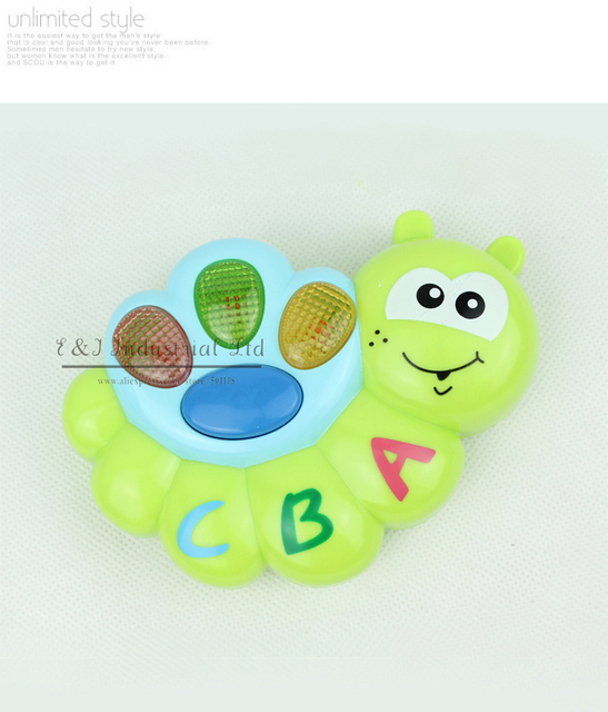 New Year Kids Educational Musical ToysSnail Jocund Insect The Best New Fashion Baby Plastic Toy For Child Play CT21005-11^^EI
