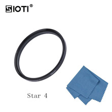 SIOTI 62/67/72/77mm 4/6/8 Points Star Camera Filter with Cleaning Cloth for Canon for Nikon for Sony for DSLR Camera Lens zomei pro ultra slim mcuv 16 layer multi coated optical glass uv filter for canon nikon hoya sony lens dslr camera accessories