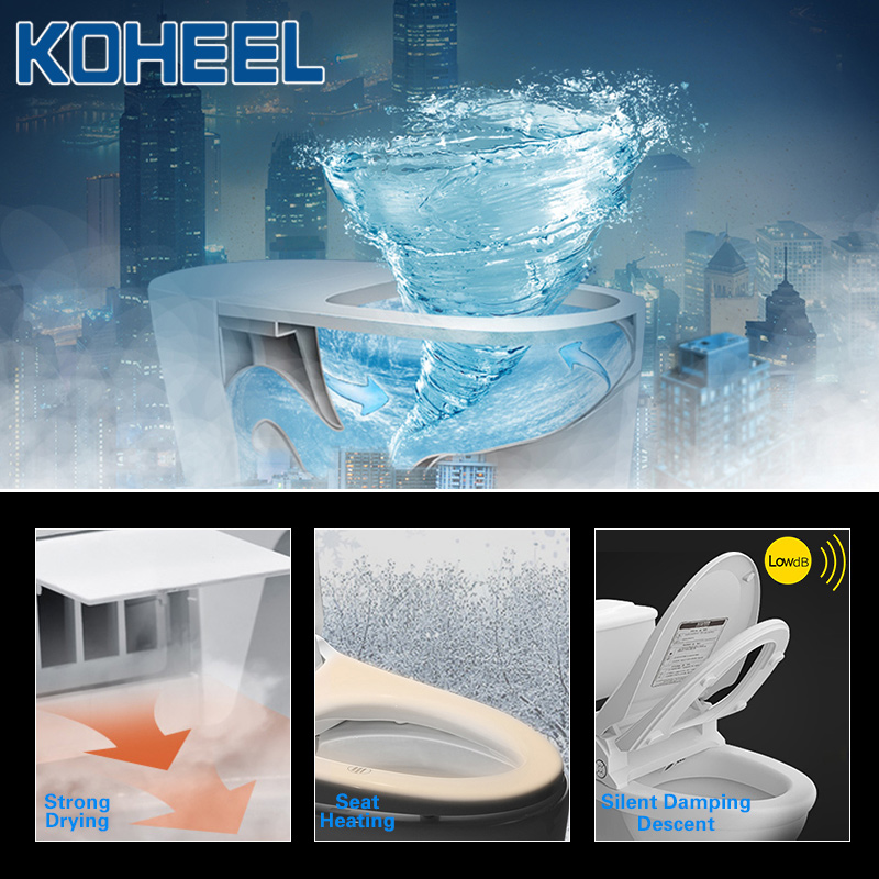 Image 2 - KOHEEL kids baby intelligent toilet seat cover electronic bidet cover clean dry seat heating wc smart toilet seat coverToilet Seats   -