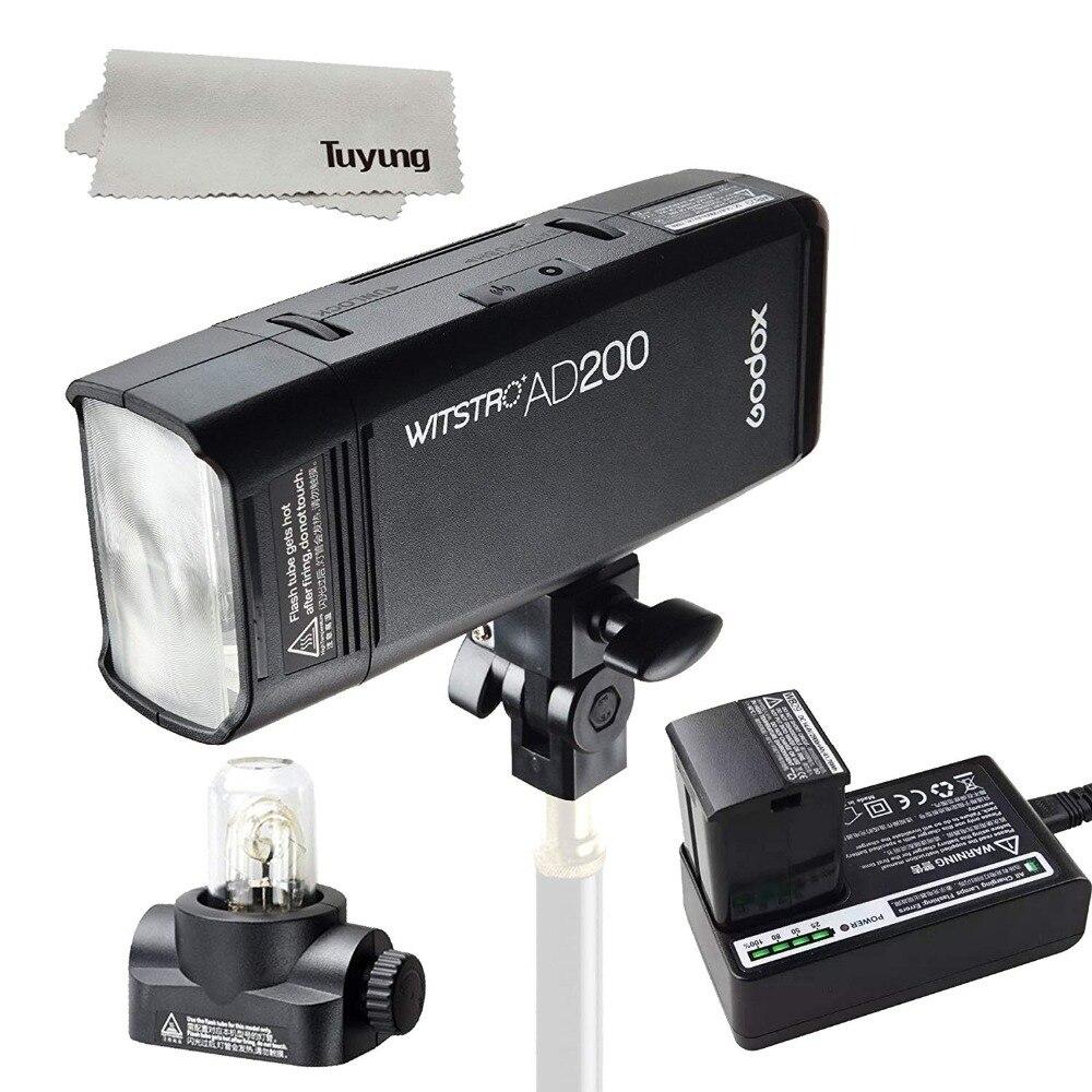 Godox AD200 200Ws GN 60 High Speed Sync Flash Strobe Built-in 2.4G Wireless X System to Achieve TTL 2900mAh Battery