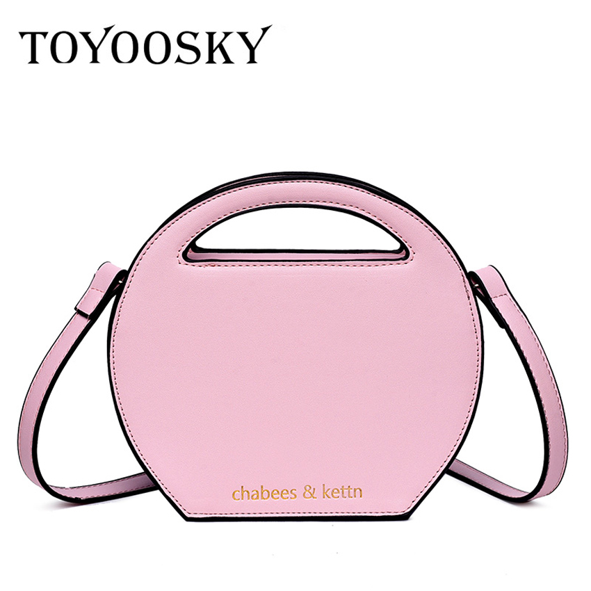 ee3951484b89 TOYOOSKY 2018 Fashion Circle Crossbody Bag for Women Leather Round Shape Handbag  Female Casual Panelled Shoulder Messenger Bag